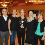 Costume Designer Candy Braden, Guest Choreographer Constance Walsh, Lisel, and Mark