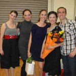 Receiving Flowers from All GDC Dancers