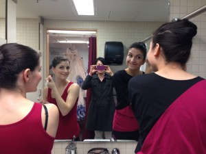 Kaitlin and Therese Getting Ready