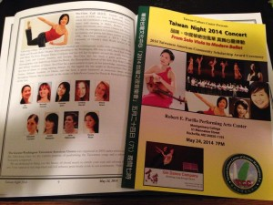 Taiwan Night 2014 Concert Program