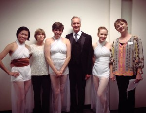 Performing at Grand Opening of the Fredgren Studio Theater.